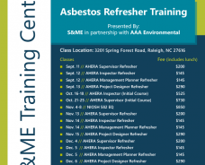 S&ME Hosts Asbestos Refresher Training Courses